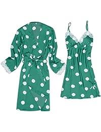 AIni Pijamas De Mujer Casa De Dos Piezas Vestido De Noche Y CamisóN Traje De Traje