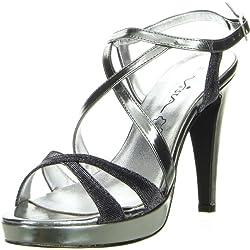 Vista Damen Sandaletten grau, Größe:39;Farbe:Grau