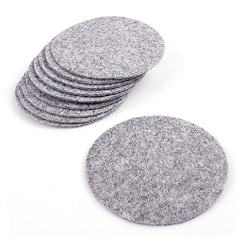 tzer rund aus Filz in Graumeliert (+ weitere Farben) Ø 10cm, Filzuntersetzer edel und elegant für Gläser, Bar und Tisch, auch als Getränkeuntersetzer geeignet ()