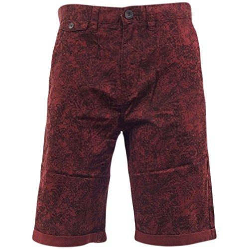 tokyo-laundry-ensemble-short-pour-homme-motif-fleurs-retro-short-chino-marriott30-32-rouge-s