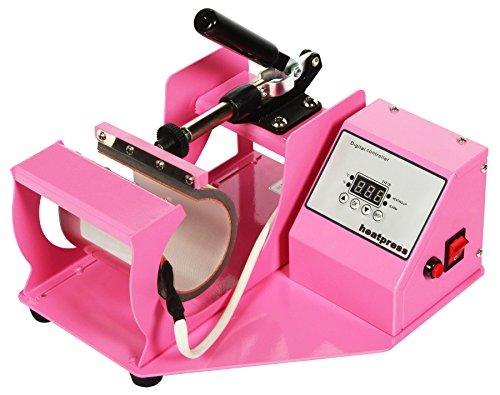 RICOO Transferpresse Sublimation Tassenpresse M505-LP Krugpresse Krug Glas für zylindrische Tassen Farbe: Rosa / Pink