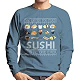 Ive Eaten Too Much Sushi Said No One Ever Christmas Knit Pattern Men's Sweatshirt