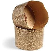 Ibili 5piezas desechables Panettone moldes, 900g, papel, marrón, 30x 18x 11,5cm