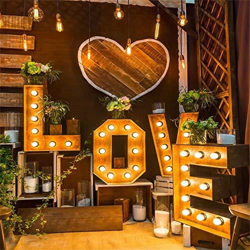 Cassisy 3x3m Vinilo Boda Telon de Fondo Interior Decoración romántica de la Boda Amor de Madera Fondos para Fotografia Party Los Amantes Photo Studio Props Photo Booth