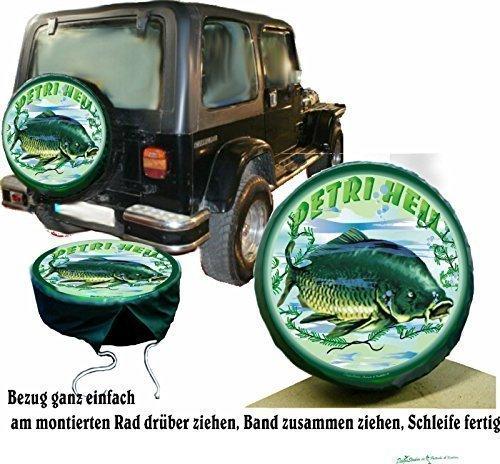Bezug Reserverad Abdeckung Karpfen für Ihren Suzuki (Jeep Reserverad Abdeckung Jagd)