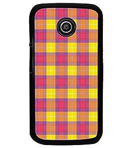 PrintDhaba Pattern D-5165 Back Case Cover for MOTOROLA MOTO E (Multi-Coloured)