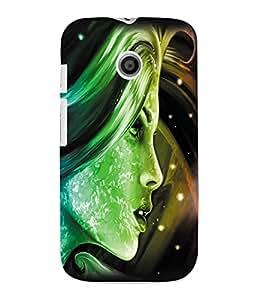 Fuson 3D Printed Fantasy Girl Designer Back Case Cover for Motorola Moto E - D1022