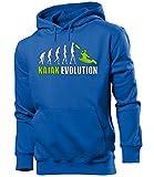 love-all-my-shirts KAJAK EVOLUTION 619 Herren Hoodie (HKP-B-Weiss-Grün) Gr. XL