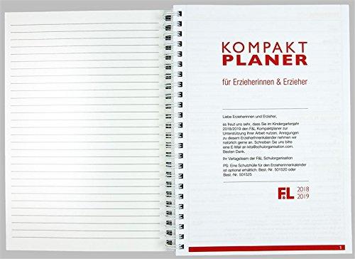 Flöttmann Kompaktplaner für Erzieherinnen und Erzieher 2018 - 2019 - A5 Kalender - Kita-Planer - 2