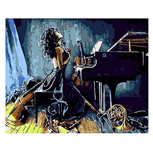 Etophigh Ölgemälde Malen auf Leinwand nach Zahlen Malset für Erwachsene und Kinder Anfänger, Type 7