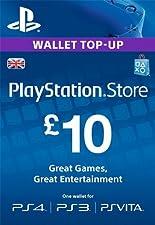 PlayStation PSN Card 10 GBP Wallet Top Up [PSN Download Code - UK account]