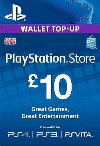 PlayStation PSN Card 10 GBP Wallet Top Up [PSN Download