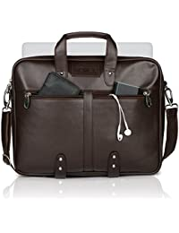 Novex Faux Leather 15-inch Laptop Bag (Brown)