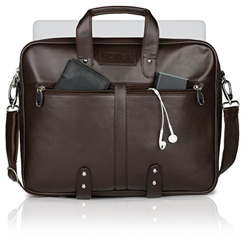 Novex 12 litres Faux Leather Brown 15″ Laptop Bag