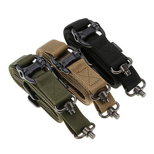 HUIHUAN Waffengürtel Nylon-Gurtband mit Hochleistungs-Schnellverschluss, Zweipunkt-Sicherheitsseil Outdoor-Campinggurt Multifunktions-Zweipunkt-Waffengurt -