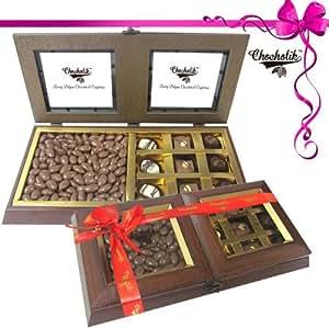Tempting Chocolate Box with Milk Nutties - Chocholik Belgium Gifts