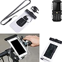 K-S-Trade® para Jiayu F2 Soporte de bicicleta para teléfono móvil Manillar Montaje impermeable
