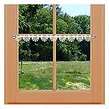 Scheibengardinen von kollektion.MT Feenhaus-Spitzenkante Loni 6,5 cm Natur traditionelle Plauener Spitzenstickerei Feenhaus-Spitzengardine