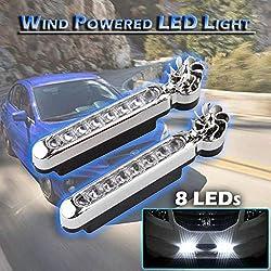 Alarme de phare automatique alimentée par le vent, 8 phares de la voiture DRL, diurne, avertissement de brouillard (C)