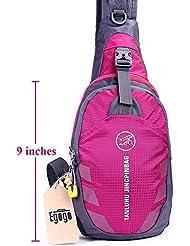 egogo multifuncional 3capas Senderismo Ciclismo Bolsa Mochila con correa ajustable para el hombro Cruz cuerpo pecho Sling Bag Mini-bag para el hombro bolsa para hombres y mujeres