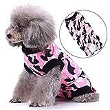 smalllee_lucky_store Pet Recovery Suit per Cani di Piccola Taglia e Gatti Dopo Un Intervento Chirurgico, Camicia Mimetica, Alternativa al Tradizionale Cono