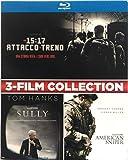 Locandina Blu-ray 3-Film collection Ore 15:17 attacco al treno + Sully + American Sniper