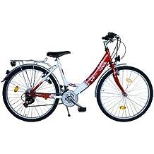 26 Zoll Fahrrad 18 Gang Shimano Kettenschaltung StVZO tauglich Rot mit ALUFELGEN