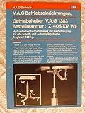 VAG: Betriebseinrichtungen – Getriebeheber V.A.G 1383 - Service