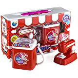Wishkey Battery Operated Home Appliances Pretend Play Household Set Of 2 Role Play Set With Sewing Machine, And Washing Machine With Light & Sound For Kids To Play At Home