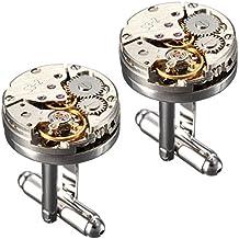 BABAN Gemelli Movimento Dell'orologio 2pcs Gemelli Per Camicia Commercio Regalo Ideale(con una bella scatola)