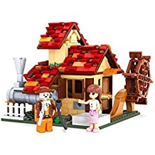 Ingenious Toys® traditional watermill house / compatible building block
