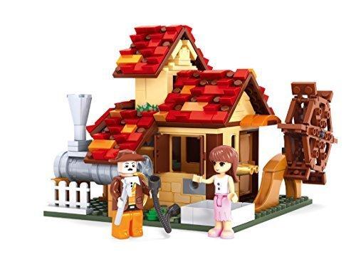 INGENIOUS Juguetes Tradicional Watermill CASA / Compatible Bloques de construcción
