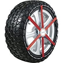 Michelin 92340 Cadena de nieve textil, Easy Grip K15, compatible con ABS y ESP , TÜV/GS y ÖNORM, 2 piezas