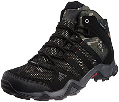 adidas Men'S Ax2 Mid Cp Camo Dark Green And Black Gore-Tex Climbing Shoes - 10 UK