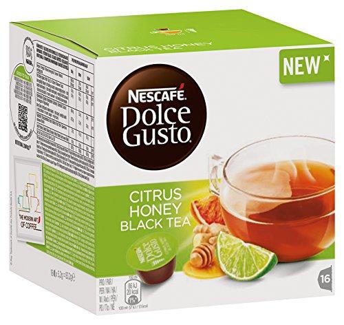 Nescafé Citrus Honey Black Tea - Cápsulas de té negro, 48 capsules (3 x 16 piezas )