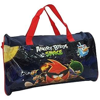 Angry Birds Space–Bolsa de deporte o de viaje para niños, color azul y rojo