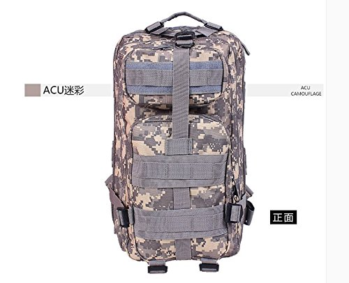 I pacchi postali doppia spalla zaino 3p attentato contro pack outdoor alpinismo camouflage Borsa Commando speciale multi-funzione pack di carica, tre sabbia camouflage ACU Digital