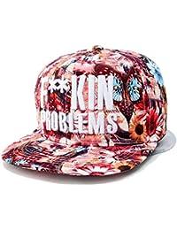 Kenmont hohe Art und Weise Hip-Hop Blume Baseballmützen Baseball Caps für Mädchen Frauen Damen