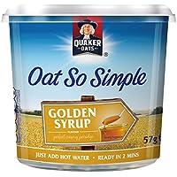 Quaker Oats avoine si simple sirop doré Pot 57g PMP (Pack de 8 x 57g)