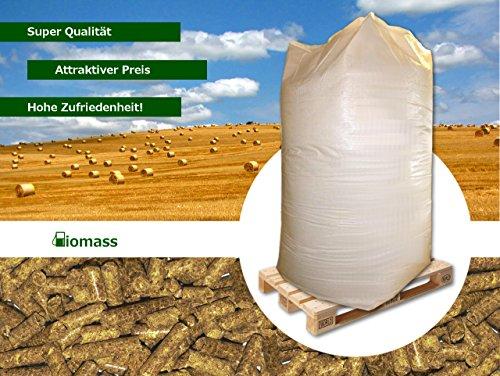 Strohpellets, 6 mm, 1000 kg, Big Bag, Palette, Einstreu, Pferde -