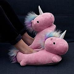 Idea Regalo - Pantofole/Ciabatte Magico Unicorno Riscaldabili/Riscaldate/Riscaldanti taglia unica