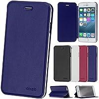 "iPhone 6 / 6S ( 4,7"" ) Flip Hülle, doupi FlipCover Deluxe Magnet Schutzhülle Book Style Ständer Case, blau"