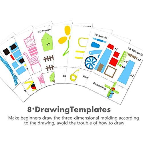 3D Stift LCD Display, 3D Drucker Stift mit 1,75 mm × 3m PLA Filament und 8 Papier Modelle, 3D Stift Set DIY Geschenk für Kinder und Erwachsene - 5