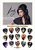 Amy Winehouse - Présentoir de 15 Médiators - Gold Edition - Taille A4