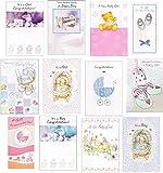 , 12 unidades nuevo bebé tarjetas de felicitación