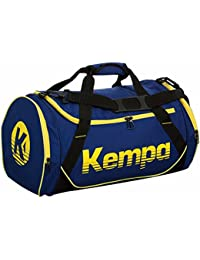 Kempa–Bolsa de deporte infantil Small 49x 26x 24cm + Botella, azul oscuro y amarillo