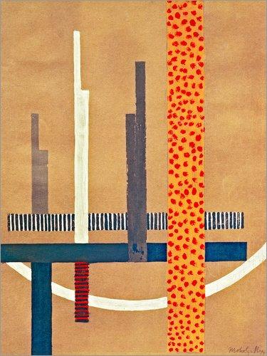 Poster 60 x 80 cm: Glasarchitektur von László Moholy-Nagy/akg-Images - Hochwertiger Kunstdruck, Kunstposter