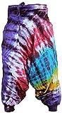 Shopoholic Mode Hippie Bunt Batik Schlabber Haremshose, Locker Sitzende Hose - DUNKEL REGENBOGEN MISCHUNG, One Size