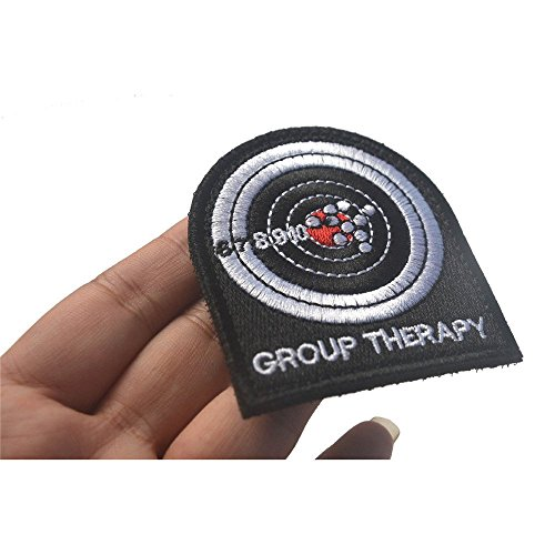 Minkoll Moral Patch, GRUPPENTHERAPIE Target Shooting Militärische Taktische Embroider Hook Loop Badges -