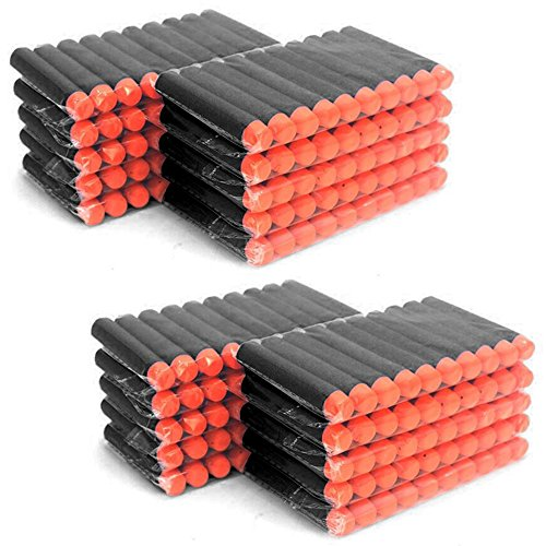 MCTECH® 200 Stück Soft Dosenwerfen SetfürDart Nerf Ziel für Nerf N-Streik Elite Blasters für Kinder Spielzeug Gun Soft Bullet (type A, schwarz)